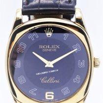 Rolex Yellow gold Manual winding Black Arabic numerals 33mm pre-owned Cellini Danaos