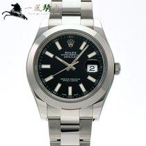 Rolex Datejust II Staal 41mm Zwart