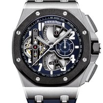 Audemars Piguet Royal Oak Offshore Tourbillon Chronograph Platino 44mm Azul Arábigos