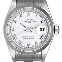 Rolex Oyster Perpetual Lady Date 26mm Blanc Romains