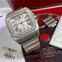 Cartier Santos 100 Steel 38mm White Roman numerals