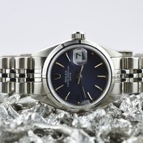 Rolex Oyster Perpetual Lady Date Acero 26mm Azul Sin cifras