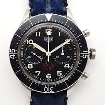 Heuer Steel 43mm Black Arabic numerals