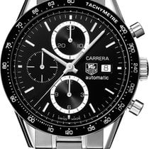 TAG Heuer Carrera Calibre 16 Steel 41mm Black No numerals United Kingdom, Wilmslow