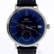 IWC Portofino Hand-Wound Staal 45mm Blauw Romeins Nederland, Breda