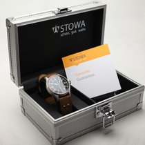 Stowa new Manual winding Display back Central seconds Luminous numerals Luminous hands Tempered blue hands Only Original Parts 36mm Steel Sapphire crystal
