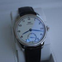 IWC Portuguese Hand-Wound Steel White Arabic numerals