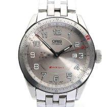 Oris Audi Sport pre-owned 44mm Silver Date GMT Steel