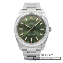 Rolex Oyster Perpetual 34 pre-owned 34mm Green