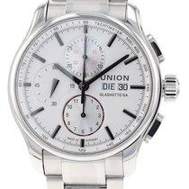 Union Glashütte Viro Chronograph Stahl 43mm Silber Deutschland, Schwabach