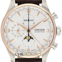 Union Glashütte Belisar Chronograph Or/Acier 44mm Blanc