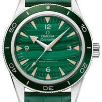 Omega Platinum Automatic Green 41mm new Seamaster 300