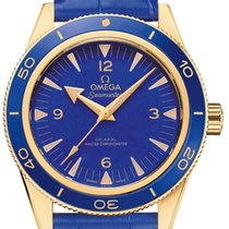 Omega Seamaster 300 Yellow gold 41mm Blue