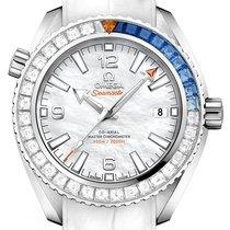 Omega Or blanc Remontage automatique Nacre 39.5mm nouveau Seamaster Planet Ocean