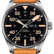 Hamilton H64725531 Acier 2021 Khaki Pilot Day Date 46mm nouveau