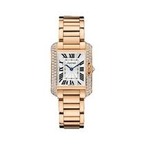 Cartier Tank Anglaise Rose gold 30.2mm Silver United States of America, Indiana, INDIANAPOLIS