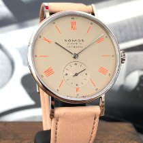 NOMOS Ludwig Neomatik Steel 36mm Champagne Roman numerals