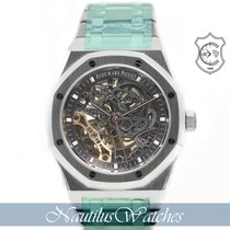 Audemars Piguet Royal Oak Double Balance Wheel Openworked Staal 41mm Doorzichtig Geen cijfers