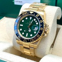 Rolex GMT-Master II Yellow gold 40mm Green No numerals United States of America, New Jersey, Woodbridge