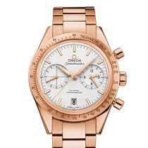 Omega Red gold Automatic White 41.5mm new Speedmaster '57