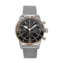 Breitling Superocean Héritage Chronograph Stahl 44mm Schwarz Keine Ziffern