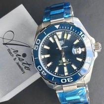 泰格豪雅 新的 自動發條 中心秒針 螢光指針 旋轉式錶圈 螢光刻度 43mm 鋼 藍寶石玻璃