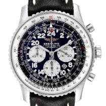 Breitling Navitimer Cosmonaute pre-owned 41.5mm Black Chronograph Leather