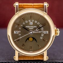 Patek Philippe Perpetual Calendar Rose gold 36mm Brown Roman numerals United States of America, Massachusetts, Boston