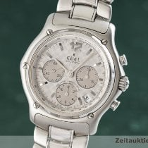 Ebel Le Modulor pre-owned 40mm Silver Chronograph Date Steel