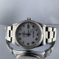 Rolex Datejust Acier 36mm Blanc