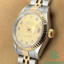 Rolex Lady-Datejust Acero y oro 26mm Champán Sin cifras