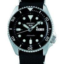 Seiko 5 Sports Steel 42.5mm Black No numerals