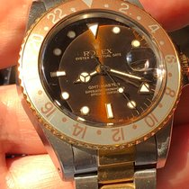 Rolex GMT-Master Gull/Stål 40mm Brun Ingen tall