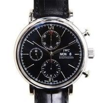 IWC Portofino Chronograph Сталь 42mm Чёрный