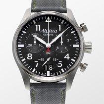 Alpina Startimer Pilot nuevo 2020 Cuarzo Cronógrafo Reloj con estuche y documentos originales AL372B4S6
