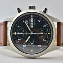 IWC Fliegeruhr Chronograph Stahl 39mm Schwarz Arabisch Deutschland, Iffezheim