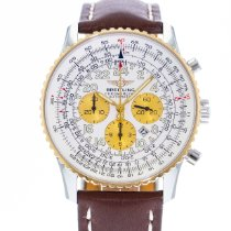 Breitling Navitimer Cosmonaute pre-owned 41.5mm White Date Leather