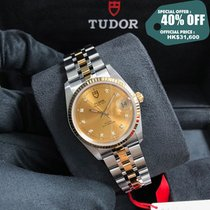 Tudor Prince Date Acero y oro 34mm Champán
