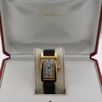 Cartier Tank Américaine Yellow gold 23mm Champagne Roman numerals