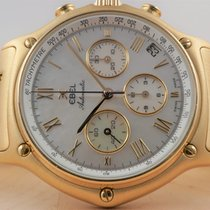Ebel 1911 pre-owned 38mm Mother of pearl Chronograph Yellow gold