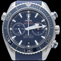 Omega Seamaster Planet Ocean Chronograph Staal 45mm Blauw Geen cijfers