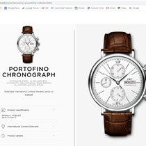 IWC Portofino Chronograph pre-owned Silver Chronograph Date Leather