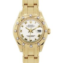 Rolex Lady-Datejust Pearlmaster Yellow gold 29mm White Roman numerals United States of America, Florida, Boca Raton