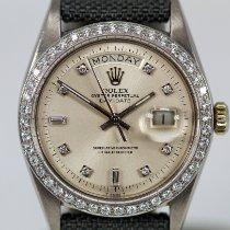 Rolex Or blanc Remontage automatique Argent Sans chiffres 36mm occasion Day-Date 36
