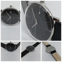 Junghans max bill Quarz Сталь 38mm Черный Без цифр