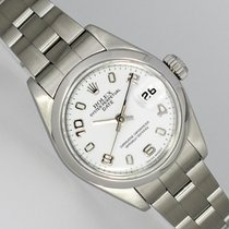 Rolex Oyster Perpetual Lady Date Steel 26mm White Arabic numerals