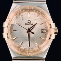 Omega Constellation Quartz Aur/Otel 35mm Argint Fara cifre