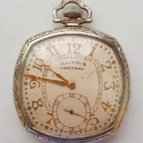 Illinois Gold/Steel Manual winding Illinois Central Pocket Watch pre-owned