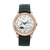 F.P.Journe Octa pre-owned 40mm Silver Moon phase Date Crocodile skin