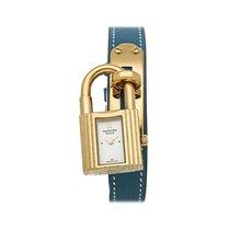 Hermès Kelly Gelbgold 20mm Weiß Keine Ziffern